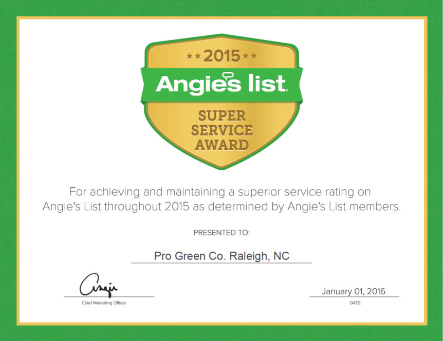 Progreen Angies list
